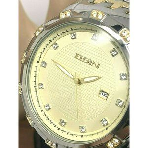 Elgin Mens Watch FG9100 Two Tone Stainless Steel
